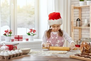 cooking Christmas biscuits