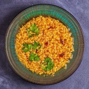 Lentil soup (Masoor Dal or Dal Tadka Curry)